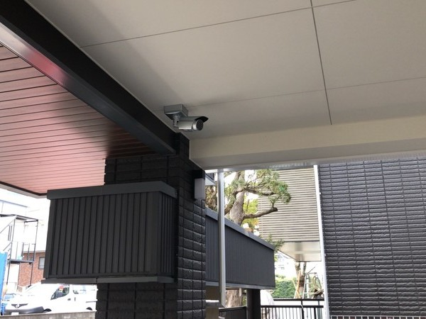 北九州市の新築マンションに防犯カメラを設置しました